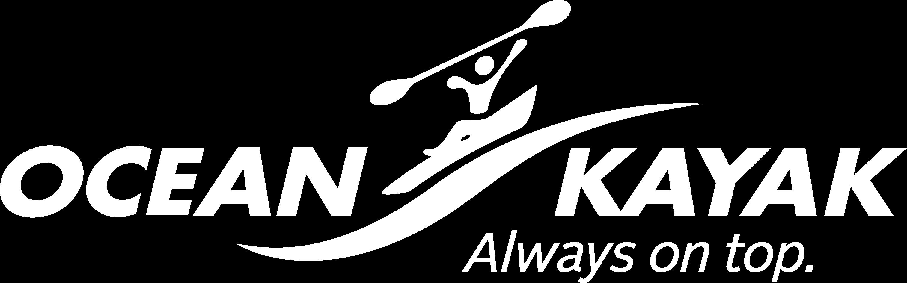 Ocean Kayak Logo Transparent White