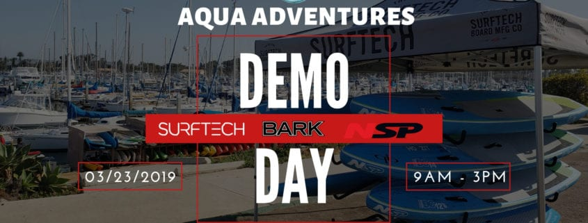 Surftech NSP and Bark Demo Day - Aqua Adventures Kayaks and Paddleboards