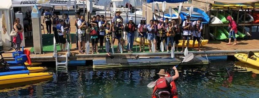 camp kayaking